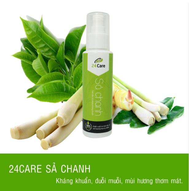 Sản phẩm Tinh dầu Xịt phòng được sản xuất và phân phối bởi VinaHC mang thương hiệu 24 Care